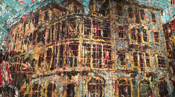 Ayman Baalbaki, Barakat Building 200×400 cm Mixed media: canvas 2015-2016
