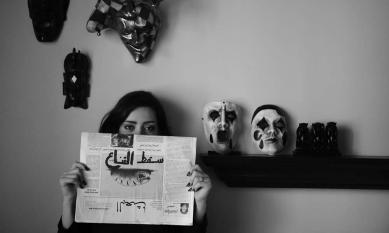 Jaber Al Azmeh, Alma Entabli (journalist) 'The mask has fallen.' From the 'Resurrection' series. 2012.  © The artist