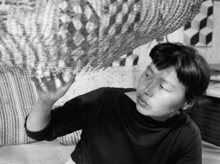 Imogen Cunningham, Asawa in her studio in 1957, 1957