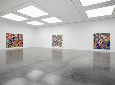 Installation Images Beatriz Milhazes 'Rio Azul', White Cube Bermondsey 17 April - 1 July 2018 © Beatriz Milhazes. Photo © White Cube (Ollie Hammick)