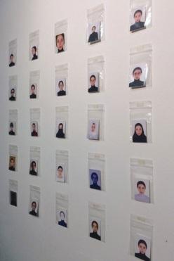 Self Portrait (Passport Photo Do's & Don'ts), Nadia Gohar, digital colour prints, polypropelene plastic bags, 2018, 25 x 30 cm