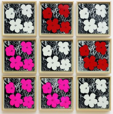 Andy Warhol, Flowers, 1964. Image courtesy Ordovas Gallery