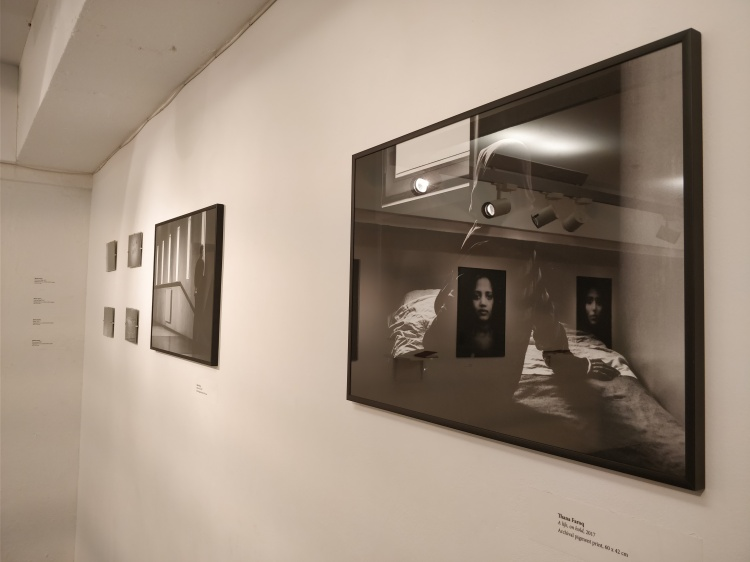 Thana Faroq's photographs in the exhibition (Image courtesy Aisha Doherty)