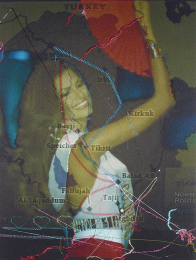 Farhad Ahrania Miss Iraq no.5' 2008-2009, 39.1cm x 52cm image courtesy Lawrie Shabibi and the artist