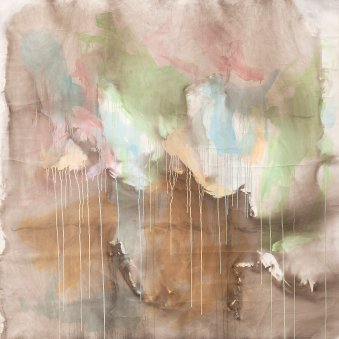 Untitled, 2014, acrylic, pigments and smoke on canvas, 200 x 200 cm. Image courtesy Garo Bardakjian
