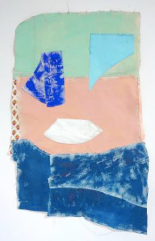 Untitled, (Blue, Green & Pink), Scarlett Bowman, Acrylic on Canvas, 125 x 78 cm, 2018
