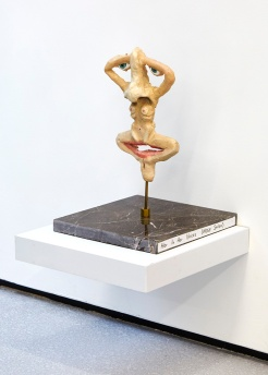 Her in Her Voices (Nose Salon), Marlene Steyn, 2017, oil on ceramic, brass, marble. Image courtesy Lychee One