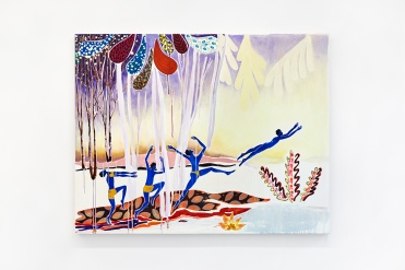 Leap of Faith, Freya Douglas-Morris, 2018, oil on canvas. Image courtesy Lychee One