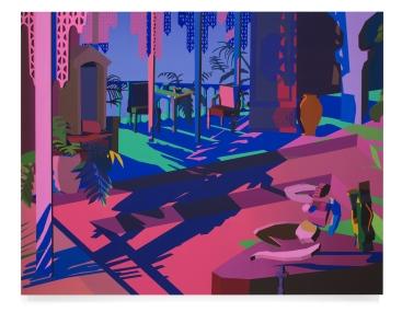Jonathan Chapline, The Room, 2018, Acrylic and flashe on panel, 119.38 cm x 152.4 cm
