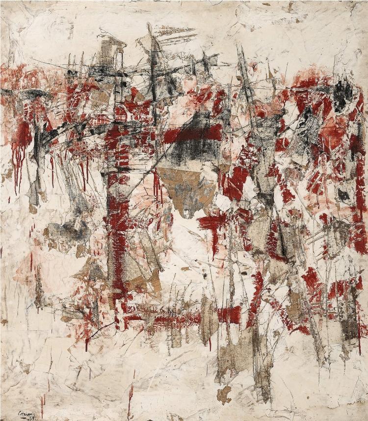Vlassis Caniaris, Hommage aux murs d'Athènes, 1959