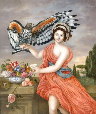 Homecoming, 54 x 46 in, oil on linen, 2018. Image courtesy Fatima Ronquillo