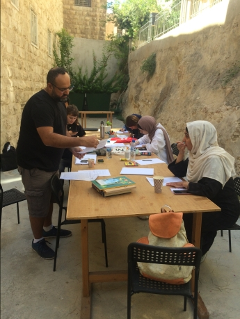 Zine-making workshop, facilitated by Lizzy Vartanian Collier and Mike V Derderian, Darat Al Funun, Amman, Jordan, September 2019