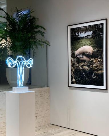 Installation shot Et Dieu Crea La Femme. Image courtesy Maryam Eisler