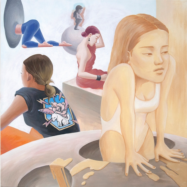 Minjoo Kim_OOTD_105X105cm_acrylic on canvas_2019